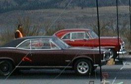 1951 Chevy racing 1966 Pontiac GTO