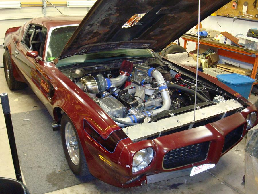 1973 Pontiac Trans Am 455, Garrett 77mm turbo & Methanol injected