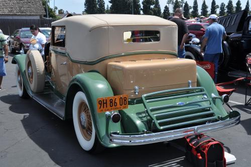 1932 Lincoln KB-9 Waterhouse Convertible Victoria 448 ci L-head V12, 150 BHP @34