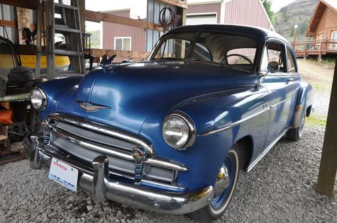 1950 Chevy Deluxe 2-door sedan, built 261 ci 6-cyl, Saginaw 3-speed, 3.25 rear e