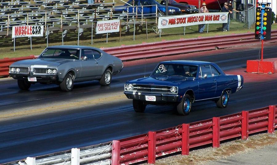 Pure Stock Muscle Car Drag Race - Mid Michigan Motorplex Stanton ...