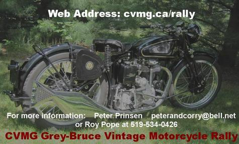 Grey-Bruce Cvmg Vintage Motorcycle Rally