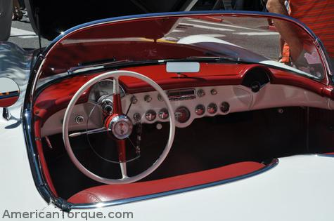 1954 Chevy Corvette 6-Cylinder Blue Flame