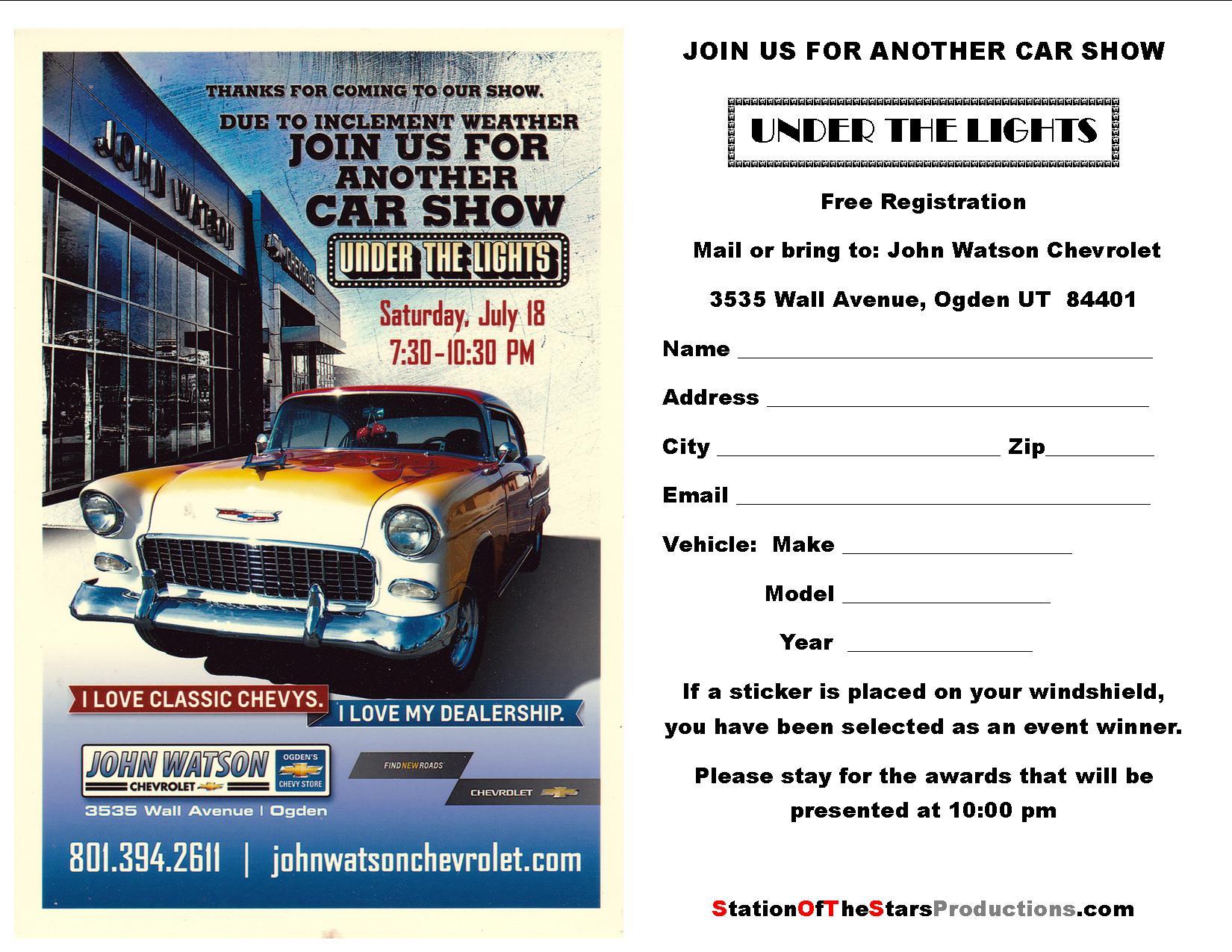 2015 john watson chevrolet under the lights car show john watson chevrole. Cars Review. Best American Auto & Cars Review